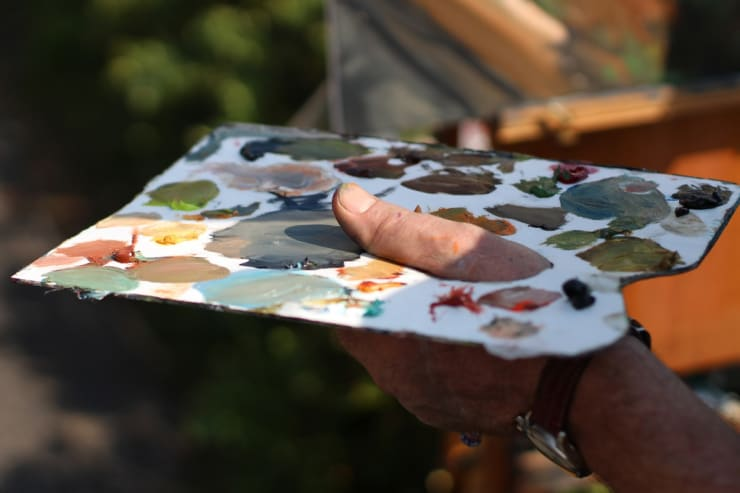 2015 04 15 Gerard Byrne Plein Air Painting Vico Road Dalkey Ireland Photo Credit Colm Murphy 2
