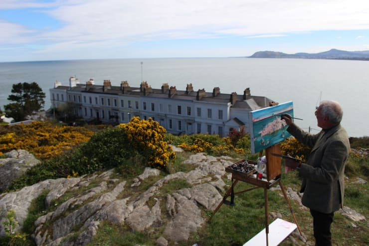 2015 04 19 Gerard Byrne Plein Air Painting Dalkey Island From Sorrento Park Dalkey Ireland Photo Credit Colm Murphy 4
