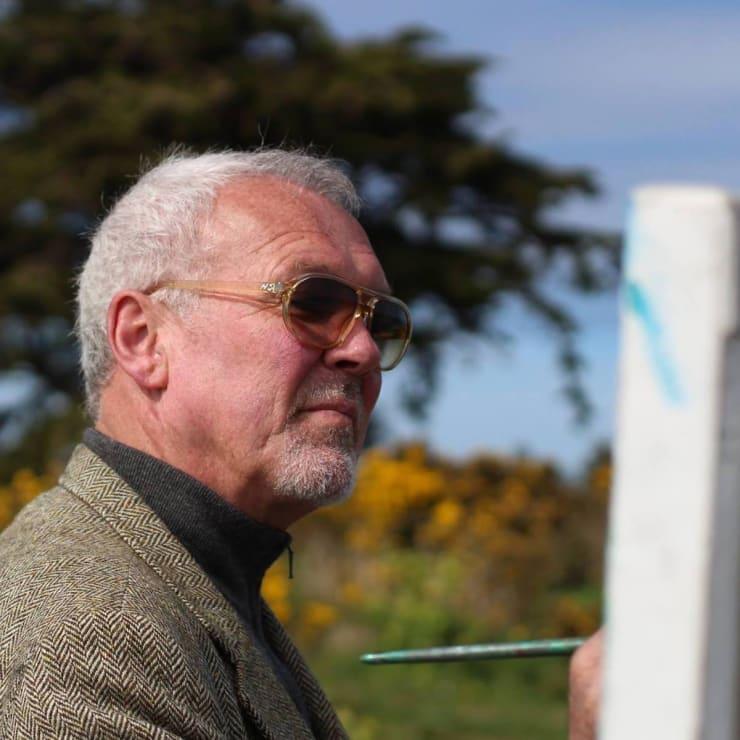 2015 04 19 Gerard Byrne Plein Air Painting Dalkey Island From Sorrento Park Dalkey Ireland Photo Credit Colm Murphy 5