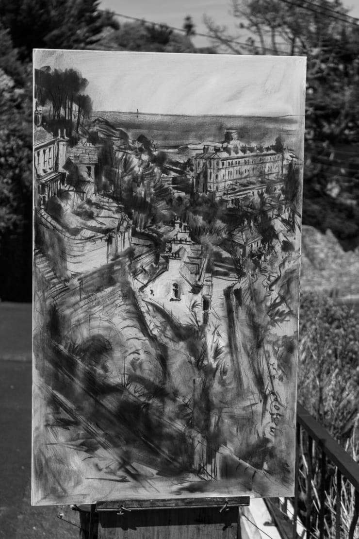 2015 06 10 Gerard Byrne Plein Air Painting Sorrento Terrace Dalkey Ireland Photo Credit Colm Murphy 1 1
