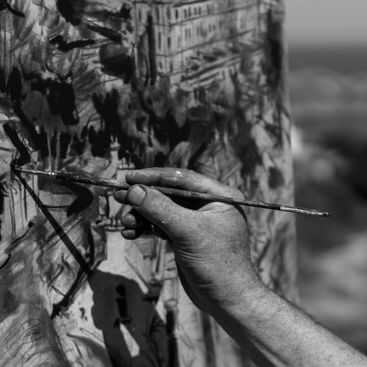 2015 06 10 Gerard Byrne Plein Air Painting Sorrento Terrace Dalkey Ireland Photo Credit Colm Murphy 3 1