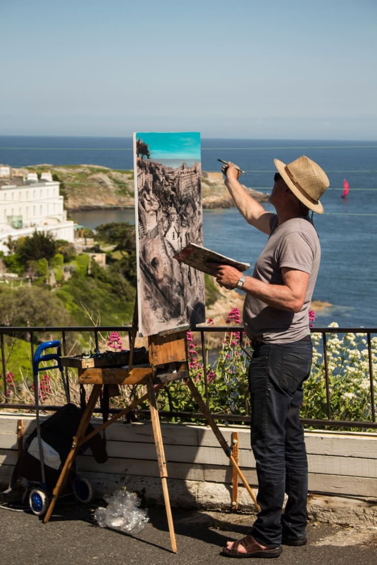 2015 06 10 Gerard Byrne Plein Air Painting Sorrento Terrace Dalkey Ireland Photo Credit Colm Murphy 8 1
