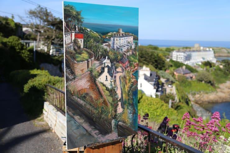 2015 06 10 Gerard Byrne Plein Air Painting Sorrento Terrace Dalkey Ireland Photo Credit Gerard Byrne 1