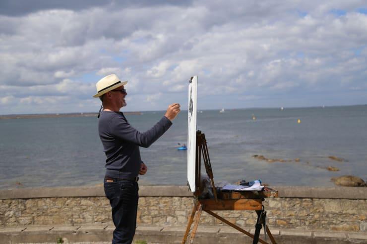 2015 06 16 Gerard Byrne Plein Air Sketching Sandycove Ireland Photo Credit Colm Murphy 1