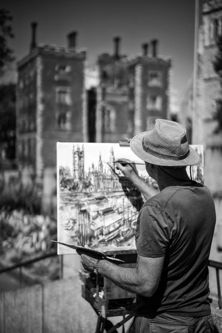 2015 07 10 Gerard Byrne Plein Air Painting Palace Of Westminster River Thames London Photo Credit Steve Blunn 2