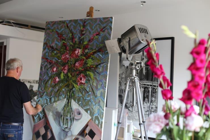 2015 07 11 Gerard Byrne Painting Rich Reds Artist Studio Islington London Photo Credit Agata Byrne 1