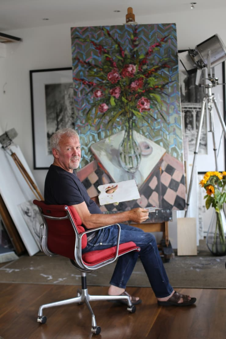 2015 07 11 Gerard Byrne Painting Rich Reds Artist Studio Islington London Photo Credit Agata Byrne 2