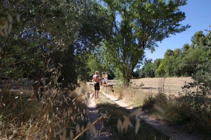 2015 07 28 Gerard Byrne Plein Air Painting Valcros Wheat Fields Aix En Provence France Photo Credit Agata Byrne 1