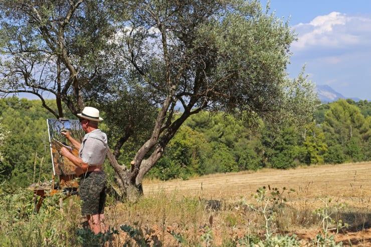 2015 07 31 Gerard Byrne Plein Air Painting Provence On My Mind Aix En Provence France Photo Credit Agata Byrne 1