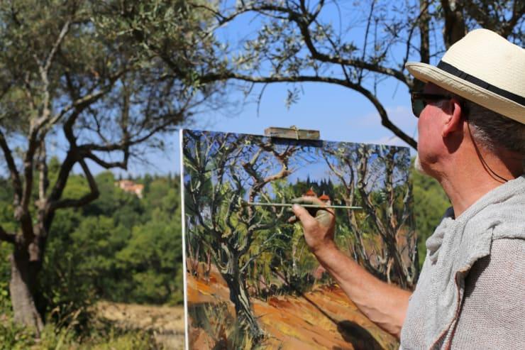 2015 07 31 Gerard Byrne Plein Air Painting Provence On My Mind Aix En Provence France Photo Credit Agata Byrne 2