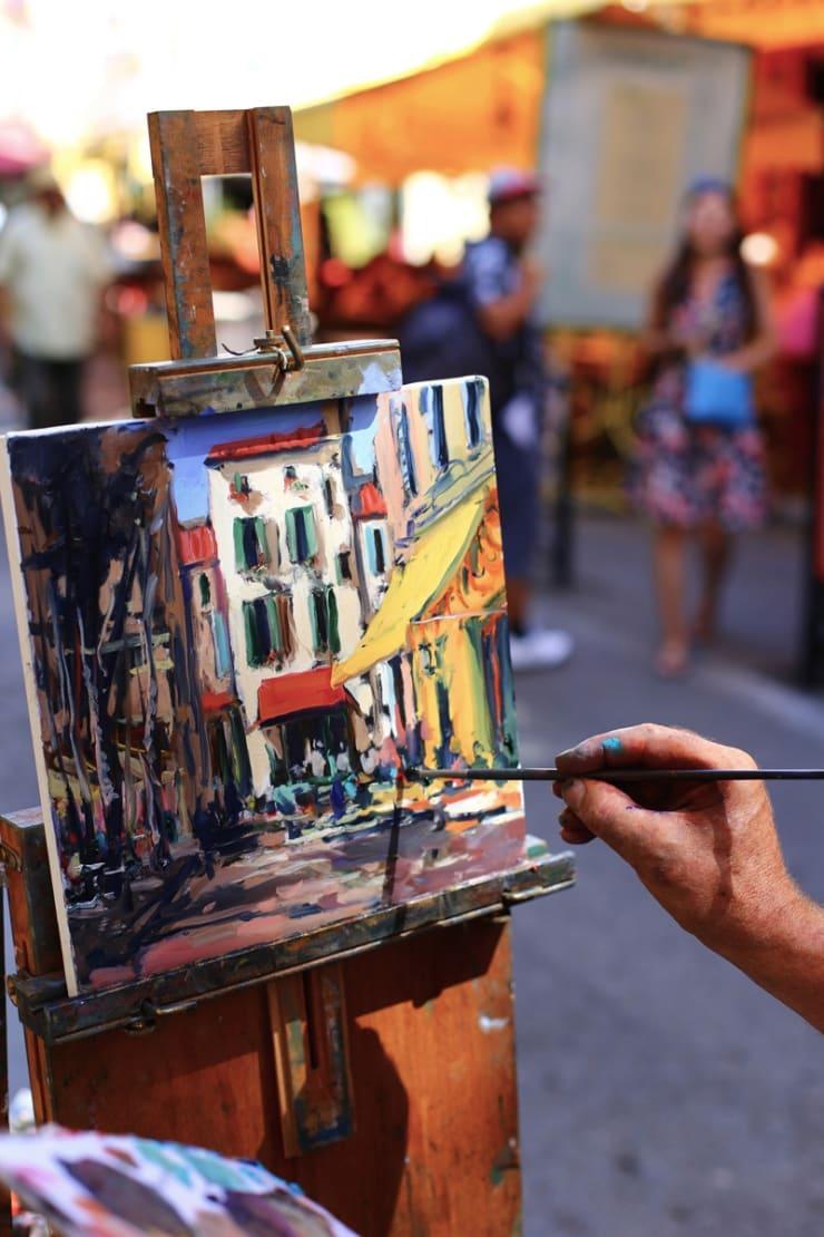 2015 08 09 Gerard Byrne Plein Air Painting Sunny Afternoon In Arles Arles France Following Vincent Van Gogh Photo Credit Agata Byrne 1