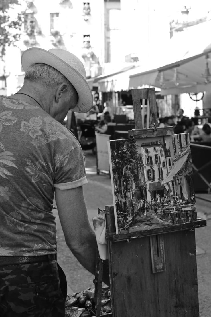 2015 08 09 Gerard Byrne Plein Air Painting Sunny Afternoon In Arles Arles France Following Vincent Van Gogh Photo Credit Agata Byrne 2