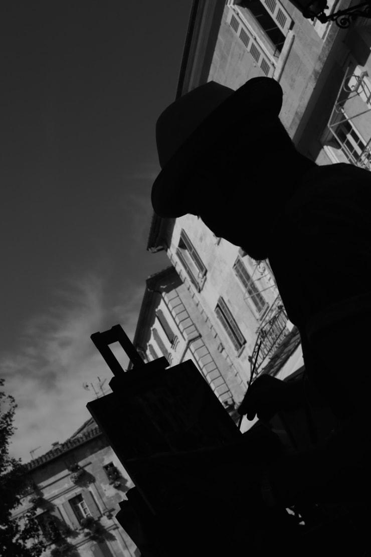 2015 08 09 Gerard Byrne Plein Air Painting Sunny Afternoon In Arles Arles France Following Vincent Van Gogh Photo Credit Agata Byrne 3