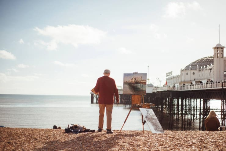 2016 02 18 Gerard Byrne Plein Air Painting The Palace Pier Brighton Photo Credit Unknown 1