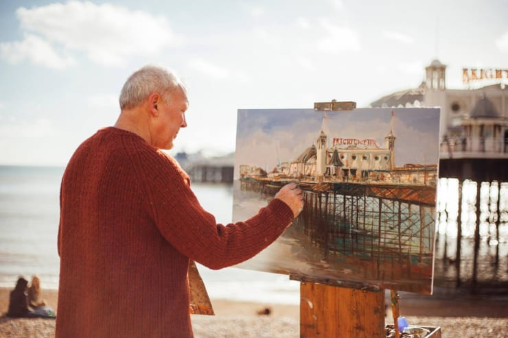 2016 02 18 Gerard Byrne Plein Air Painting The Palace Pier Brighton Photo Credit Unknown 2