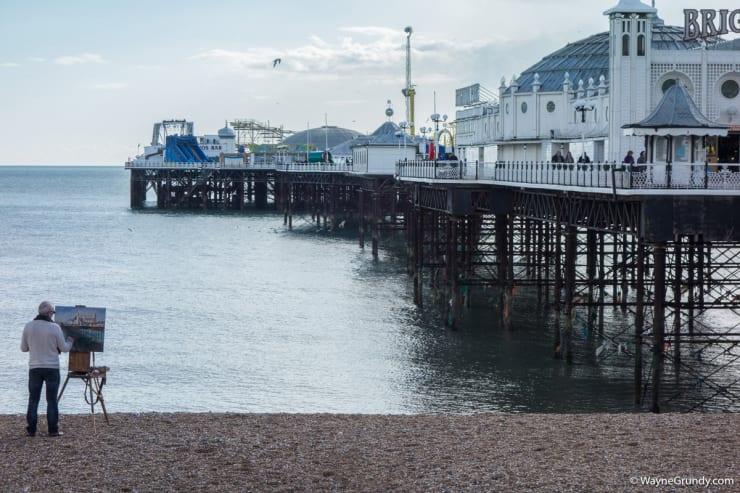2016 02 18 Gerard Byrne Plein Air Painting The Palace Pier Brighton Photo Credit Wayne Grundy 1