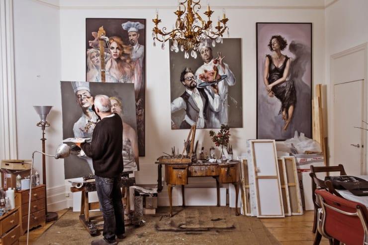 2016 02 19 Gerard Byrne Painting Artist Studio Brighton Uk Photo Credit Andrew Roach Photography 1