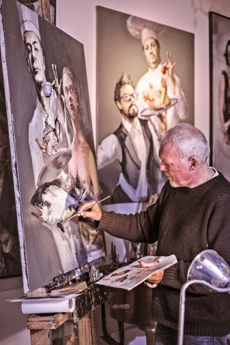 2016 02 19 Gerard Byrne Painting Artist Studio Brighton Uk Photo Credit Andrew Roach Photography 2