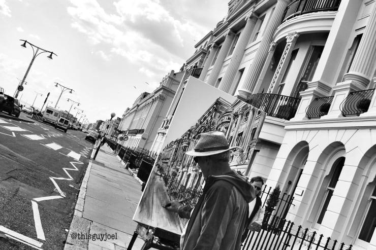2016 05 25 Gerard Byrne Plein Air Sketching Sunny Day At Brunswick Terrace Brighton Uk Photo Credit Joel Thisguyjoel 1