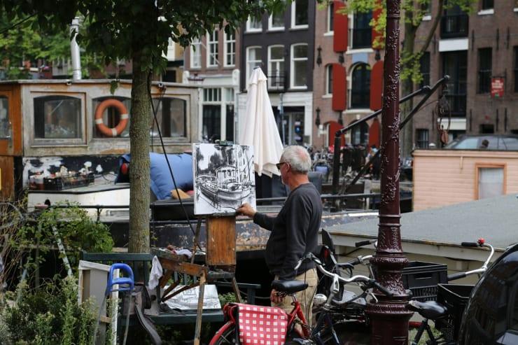 2016 09 03 Gerard Byrne Plein Air Painting Pintar Rapido Amsterdam Photo Credit Agata Byrne 2