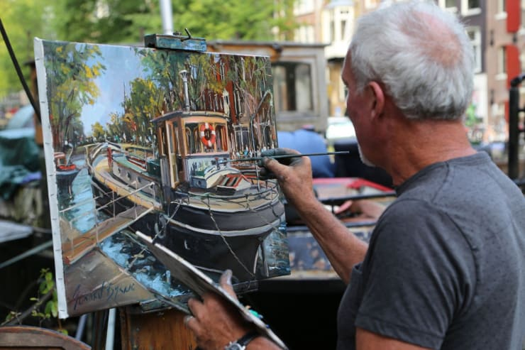 2016 09 03 Gerard Byrne Plein Air Painting Pintar Rapido Amsterdam Photo Credit Agata Byrne 4