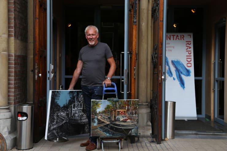 2016 09 03 Gerard Byrne Plein Air Painting Pintar Rapido Amsterdam Photo Credit Agata Byrne 6