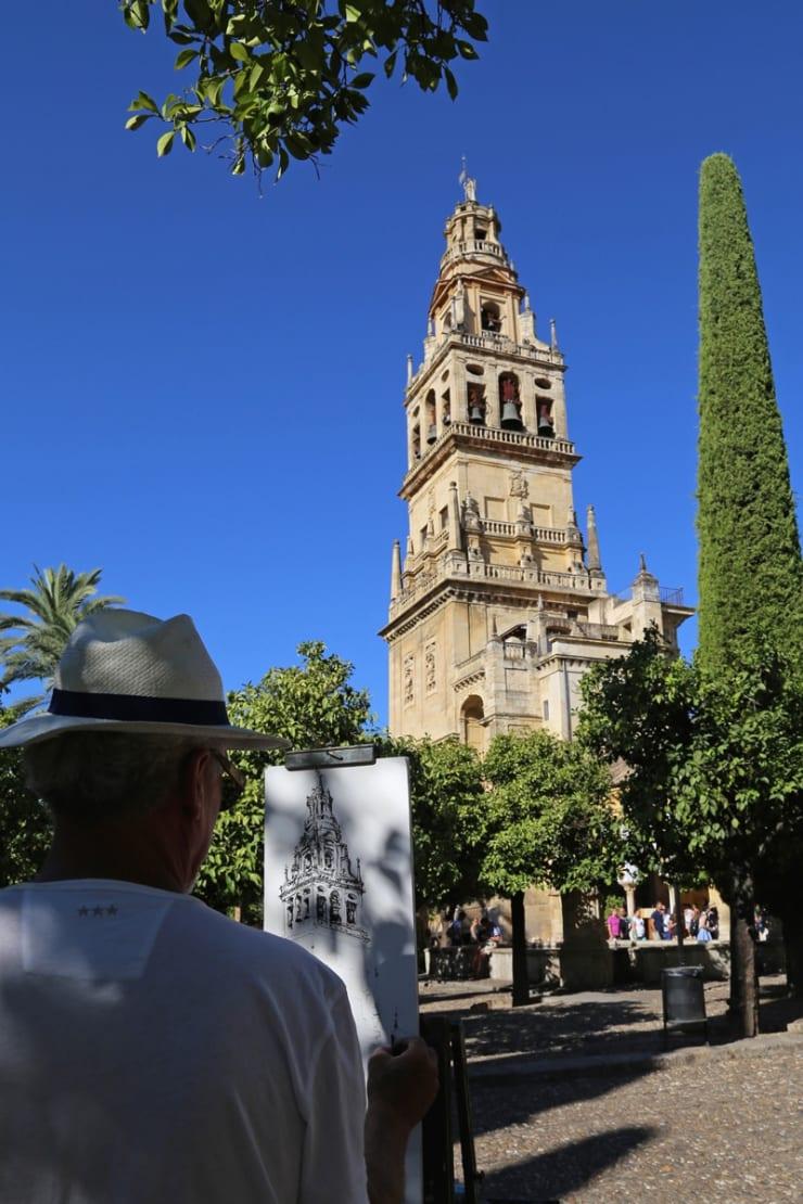 2016 09 27 Gerard Byrne Plein Air Sketching Cordoba Mosque Cathedral Spain Photo Credit Agata Byrne 3
