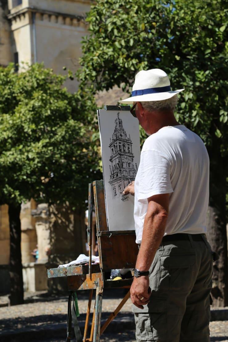 2016 09 27 Gerard Byrne Plein Air Sketching Cordoba Mosque Cathedral Spain Photo Credit Agata Byrne 6