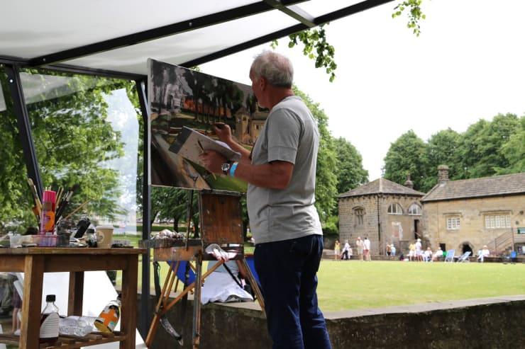 2017 06 21 Gerard Byrne Plein Air Painting Landscape Artist Of The Year Sky Arts Knaresborough Yorkshire Uk Photo Credit Agata Byrne 1
