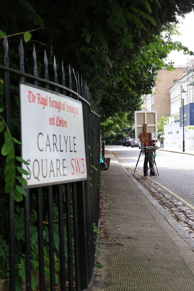 2017 07 29 Gerard Byrne Plein Air Painting Pintar Rapido London Carlyle Square Photo Credit Agata Byrne 2