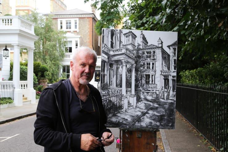 2017 07 29 Gerard Byrne Plein Air Painting Pintar Rapido London Carlyle Square Photo Credit Agata Byrne 3