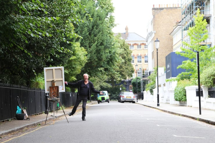 2017 07 29 Gerard Byrne Plein Air Painting Pintar Rapido London Carlyle Square Photo Credit Agata Byrne 4