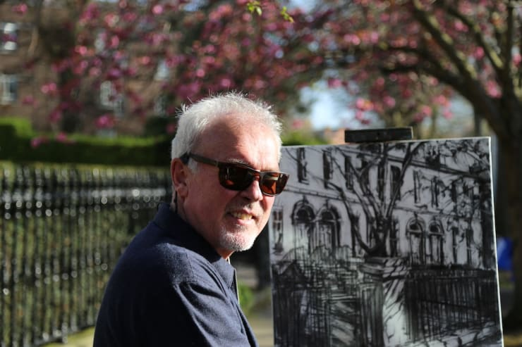 2018 04 21 Gerard Byrne Plein Air Painting Wellington Road Ballsbridge Dublin Photo Credit Agata Byrne 3