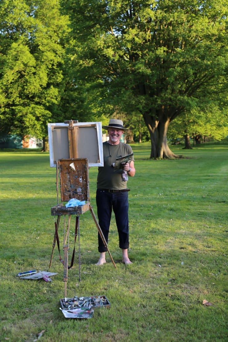 2018 05 06 Gerard Byrne Plein Air Painting The Temperate House Kew Royal Botanic Gardens Richmond London Photo Credit Agata Byrne 3