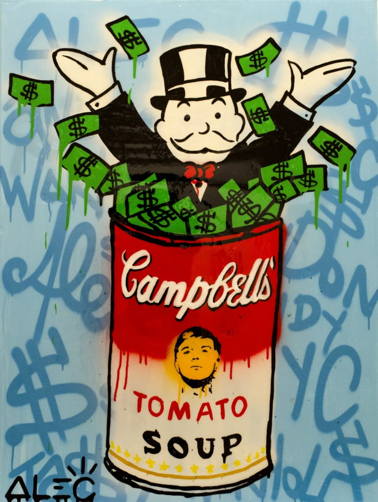 """, arial, helvetica; font-size: 11px; line-height: 14px;"""">Alec Monopoly Warhol Pennybags, 2013"""