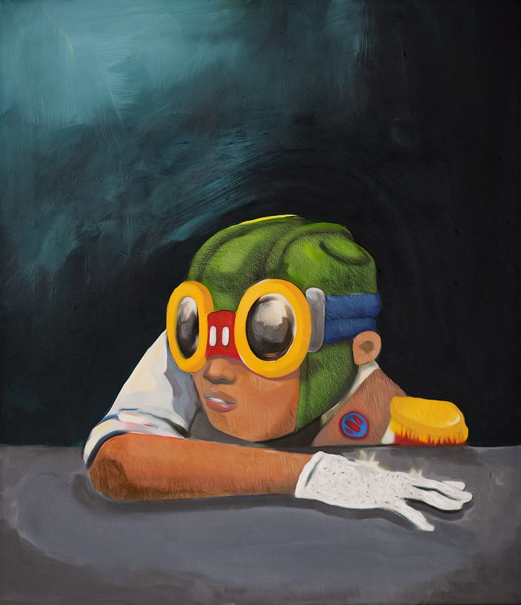 """, arial, helvetica; font-size: 11px; line-height: 14px;"""">Hebru Brantley Be Like Mike, 2014"""