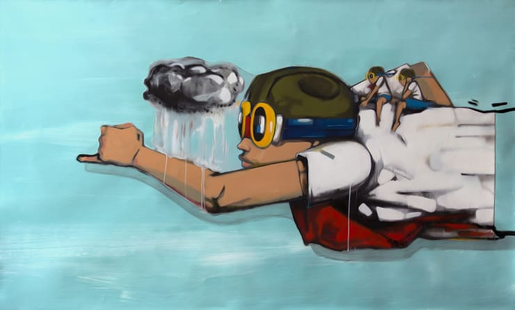 """, arial, helvetica; font-size: 11px; line-height: 14px;"""">Hebru Brantley Riding High, 2014"""