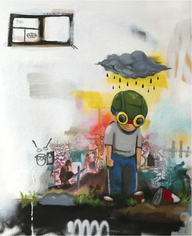 Hebru Brantley Monsoon/Typhoon, 2014