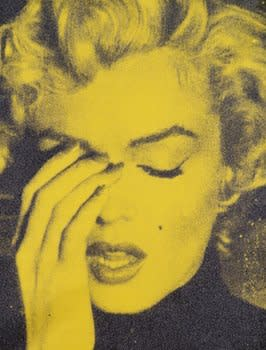 Russell Young Marilyn Crying - Chartreuse & Black, 2013