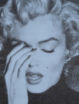 Russell Young Marilyn Crying - Alice Blue & Black, 2013