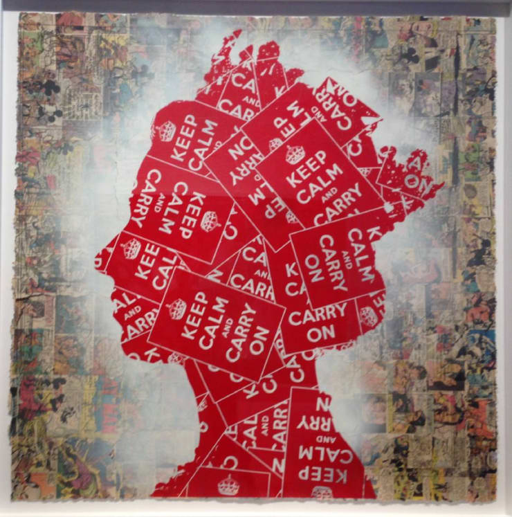Mr Brainwash (Thierry Guetta) Elizabeth (Keep Calm Comic Strip), 2013