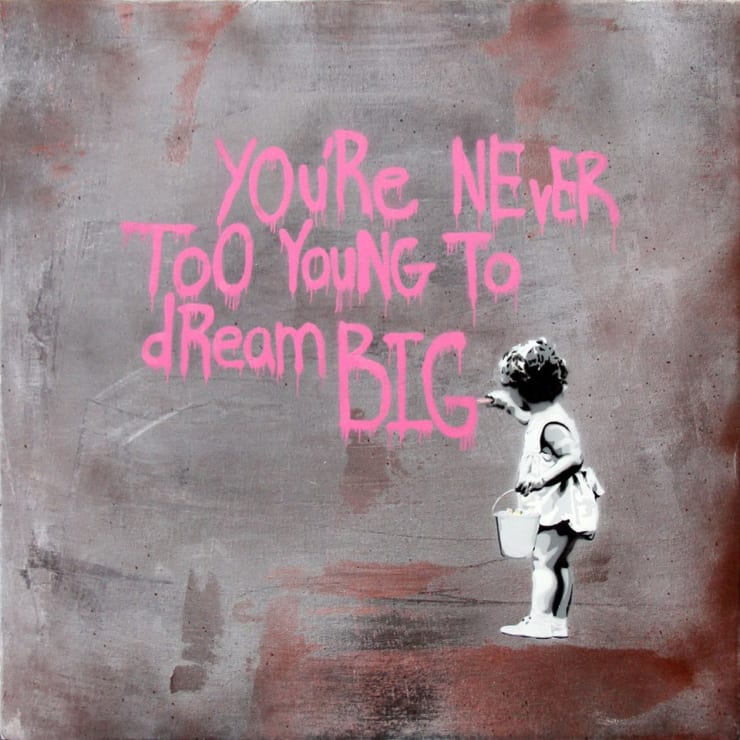 HIJACK Never Too Young to Dream Big - Pink Grey, 2013