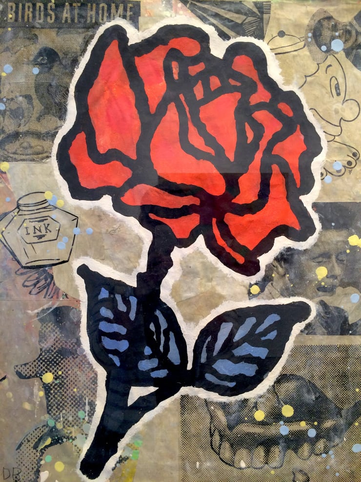 Donald Baechler Red Rose (Blue Leaves), 2008