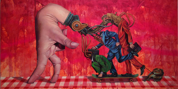 Martin Ron Frog Going the Wrong Way, 2014