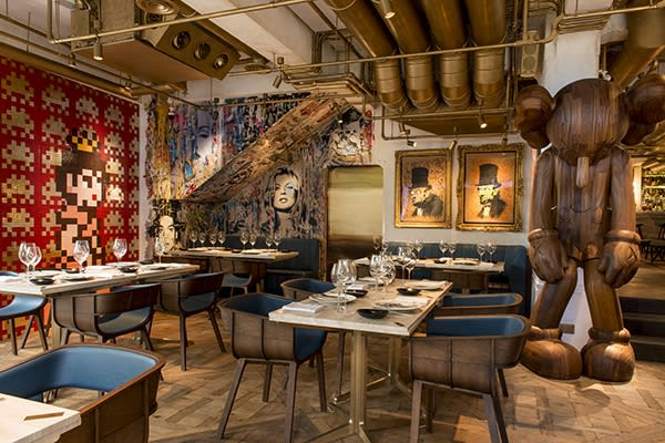 Fine Dining with Banksy, KAWS, Invader...you name it...