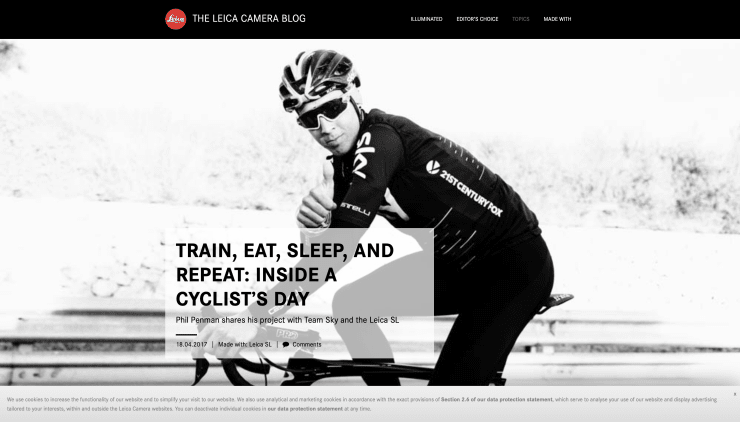 THE LEICA BLOG: TRAIN. EAT. SLEEP AND REPEAT: INSIDE A CYCLISTS DAY