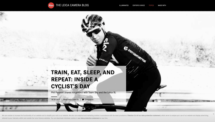 THE LEICA BLOG: TRAIN, EAT, SLEEP, AND REPEAT: INSIDE A CYCLIST'S DAY