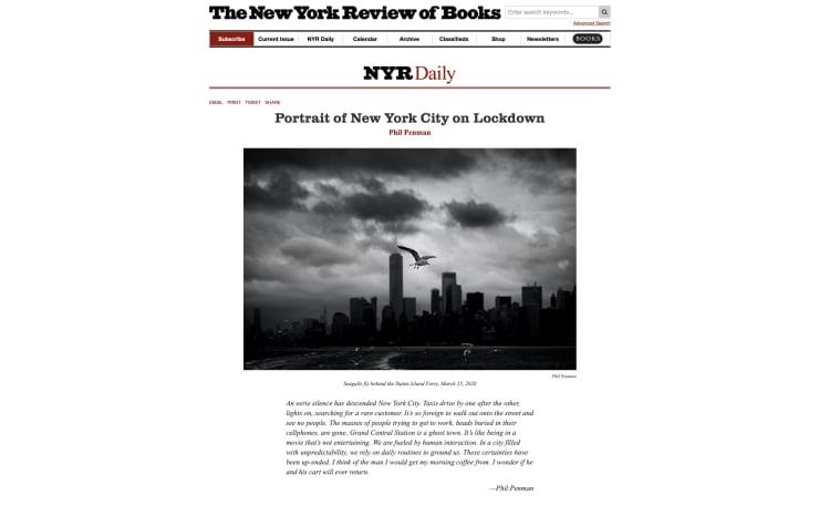 Portrait of New York City on Lockdown