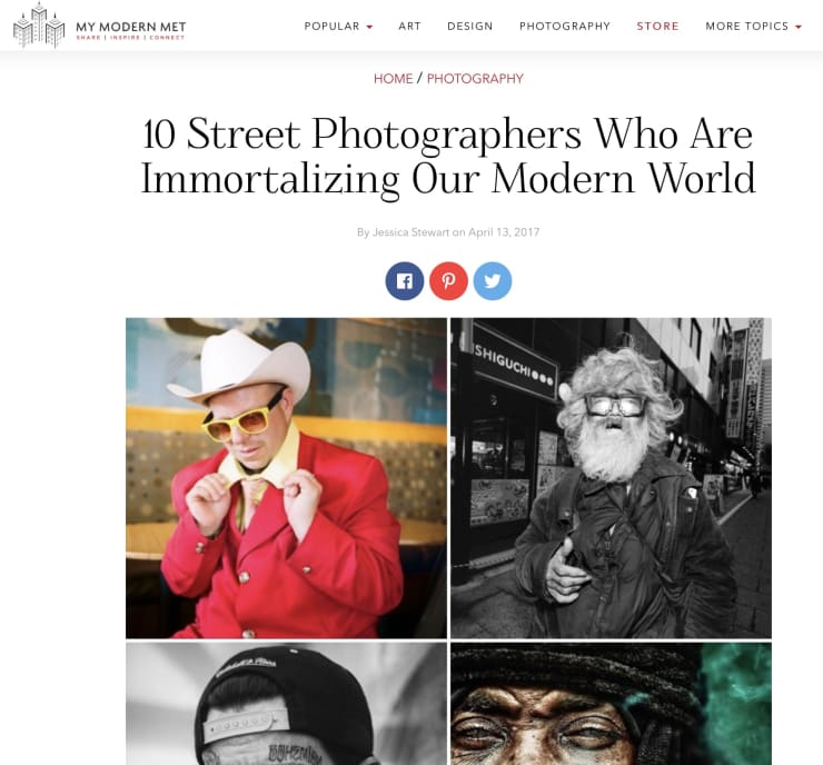 MY MODERN MET: TOP 10 CONTEMPORARY STREET PHOTOGRAPHERS