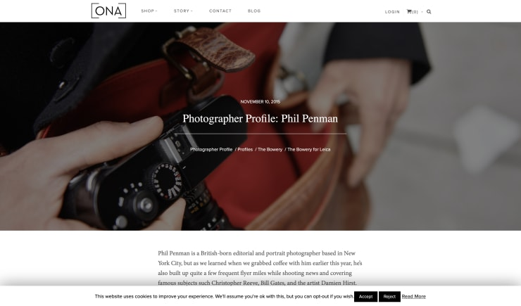 Ona: PHOTOGRAPHERS PROFILE